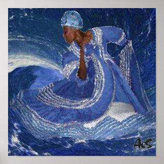 reina YEMAYA del océano Posters