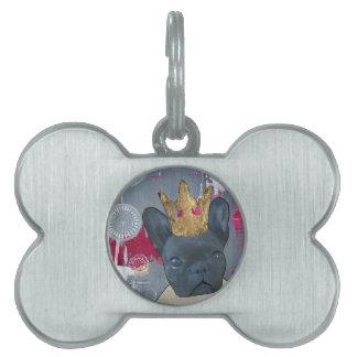Reina Zoey el dogo francés Placas De Mascota