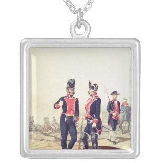 Reinado de Carlos IV, 1795 Square Pendant Necklace