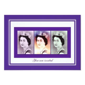 """Reinado de la reina Elizabeth II Invitación 4.5"""" X 6.25"""""""