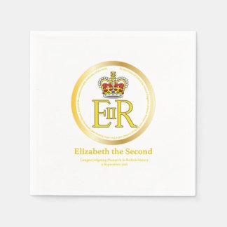 Reinado de la reina Elizabeth II Servilleta Desechable