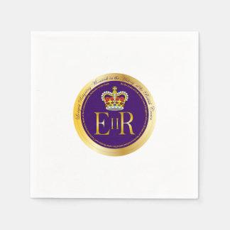 Reinado de la reina Elizabeth II Servilletas De Papel
