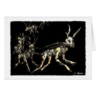 Reinado de la tarjeta de Navidad del reno