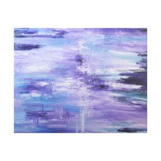 "Reinado púrpura en la lona estirada 14"" x11 "" lienzo envuelto para galerías"