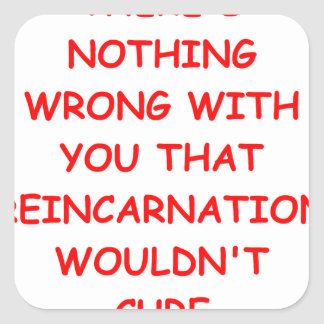 reincarnation square sticker