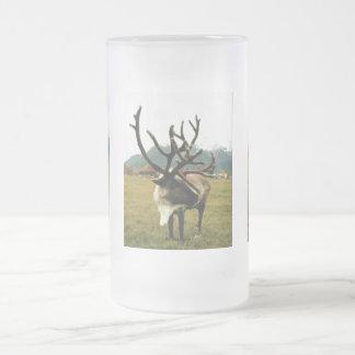 Reindeer #01 frosted glass beer mug