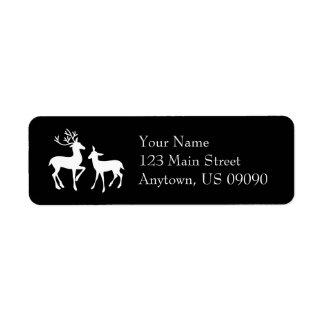 Reindeer Address Labels (Black)