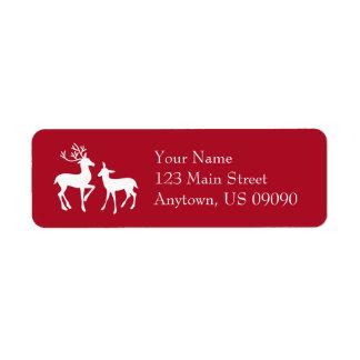 Reindeer Address Labels (Burgandy)