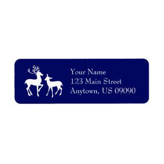 Reindeer Address Labels (Navy Blue)