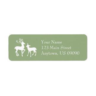 Reindeer Address Labels (Sage Green)
