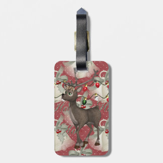 Reindeer and Christmas Bells Tag For Bags