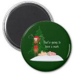 Reindeer and Grandma Magnet