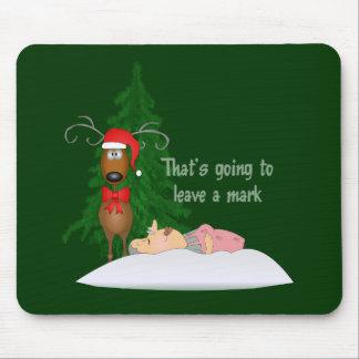 Reindeer and Grandma Mousepad