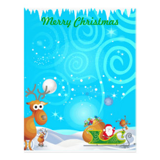 Reindeer and Santa Stationery