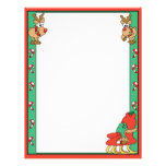 Reindeer and Santa's Sleigh Personalized Letterhead