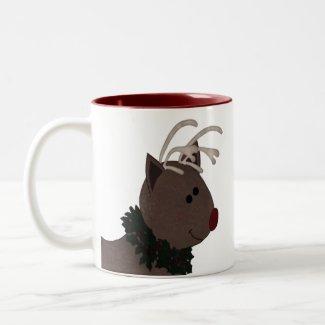 Reindeer and Snowman Mug mug