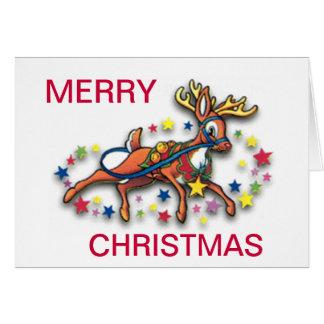 Reindeer And Stars Card