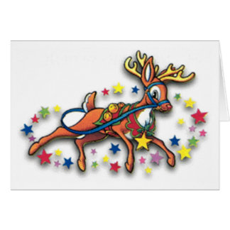 Reindeer And Stars Greeting Cards