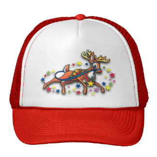 Reindeer and Stars Trucker Hat