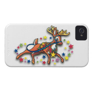 Reindeer And Stars iPhone 4 Case-Mate Case