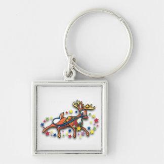 Reindeer And Stars Keychain