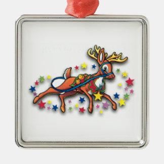 Reindeer And Stars Christmas Tree Ornament
