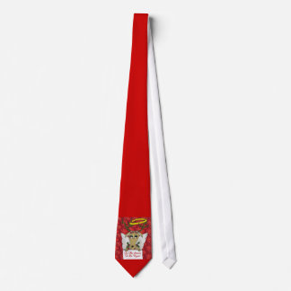 Reindeer Angel Tis The Season to Be Vegan Neck Tie