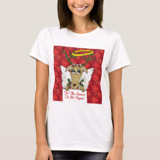 Reindeer Angel Tis The Season to Be Vegan T-Shirt