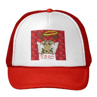 Reindeer Angel Tis The Season to Be Vegan Trucker Hat