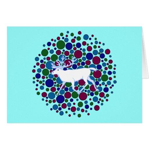 """Reindeer Art """"Season's Greetings"""" Note Card"""
