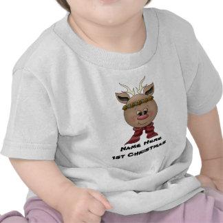 Reindeer Baby's 1st Christmas T-shirt
