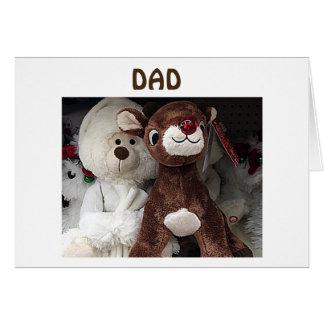 "REINDEER/BEAR SAY ""MERRY CHRISTMAS DAD"" CARD"