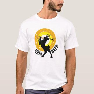 Reindeer Beer Drinking Stag T-Shirt