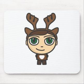 Reindeer Boy Cartoon Character Mousepad