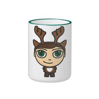 Reindeer Boy Cartoon Character Mug