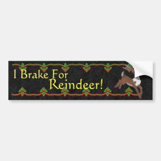 Reindeer Bumper Sticker Car Bumper Sticker