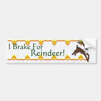 Reindeer Bumper Sticker