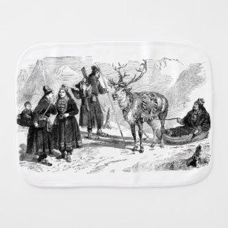 Reindeer Burp Cloth