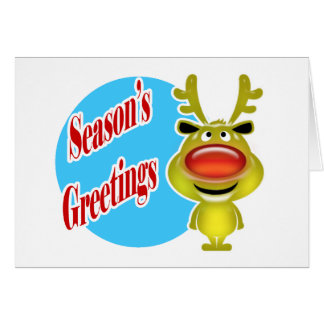 Reindeer business holiday wishes greeting card