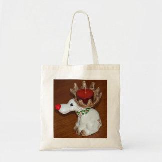 Reindeer-Candle Tote Bag