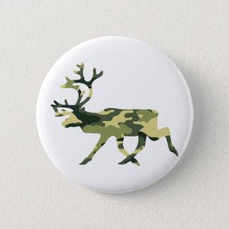 Reindeer / Caribou Woodland Camouflage / Camo Pinback Button