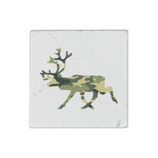 Reindeer / Caribou Woodland Camouflage / Camo Stone Magnet