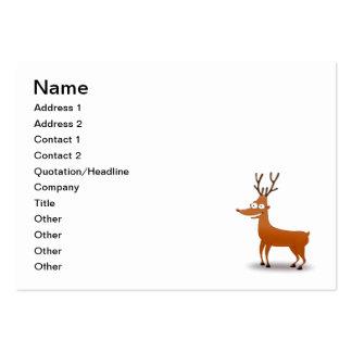 Reindeer cartoon business cards