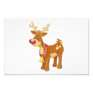 Reindeer cartoon photo print