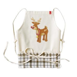 Reindeer cartoon zazzle HEART apron