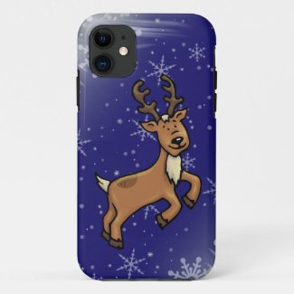Reindeer Cell Phone Case iPhone 11 Christmas