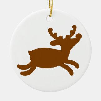 Reindeer Ceramic Ornament