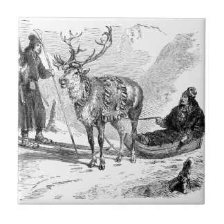 Reindeer Ceramic Tile