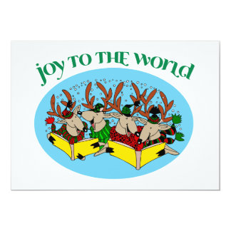 Reindeer Choir - Christmas Choir Carols Card