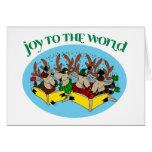 Reindeer Choir - Joy to the World Cards